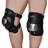 Wosawe 1 Para Outdoor Radfahren Schutzausrüstung Edelstahl Knieschoner Sport Ellenbogen Kniesicherheitsausrüstung