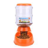 3.5L Large Automatic Pet Dog Cat Food Drink Dispenser Water Bowl Feeder Dish
