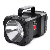 8000LM 500W Dual Head LED Faretto super luminoso USB ricaricabile Potente luce di ricerca