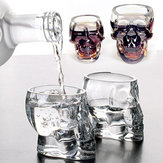 100ml Clear Head Glass Cup Clear Cráneo Water Cup Creative Transparent Bar Beber vidrio