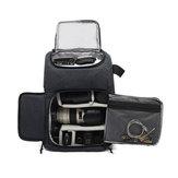 IPRee® PU Waterproof Camera Bolsa Bolsa de viagem para mochila de fotografia Bolsas