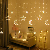 2.5M 3.5M USB Plug In LED Moon Star Curtain Fairy Ins Christmas String Light Bedroom Romantic Decor