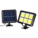 120LEDs Solar Lamp PIR Motion Sensor Security Outdoor Wall Light Waterproof Garden Yard