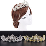Rhinestones Baroque Bridal Crown Tiara Wedding Headband Hair Headdress Flower King Prom