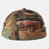 Аннотация Шаблон Шляпы без полей Череп Шапка многоцветная Soft Фетровые шляпы