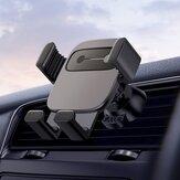 Baseus Métal Cube Liaison Gravity Automatique Serrure Air Vent Support De Téléphone De Voiture Avec 5 Émotion Autocollants Pour 4.7-6.6 Pouce Téléphone Intelligent