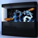 Su Ejderha Akvaryum Arka Plan HD Balık Tankı Peyzaj Balık Tankı Süslemeleri