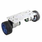 2WDバランスカーシャーシスマートロボットカーキットシルバーパネル/ 65mmホイール/コードホイール付き37-520モーター
