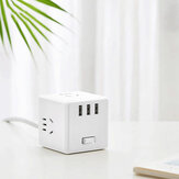[New] Xiaomi Mijia 2 In 1 Magic Cube USB Charger Power Strip Adapter 6 Ports Socket Converter Mini Space-saving Socket Plug Outlet