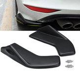 ユニバーサルフィットV7フロントリアバンパーリップラップウイングレット車のサイドスカートエクステンション2ピーススクラッチガード