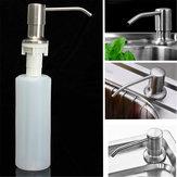 350ML Mutfak Banyo Lavabo Sıvısı Sabun Dispenser Fırçalı Nikel Kafa
