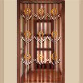 90x220cm 31 Line Wooden Bead Curtains Fly Screen Porch For Bedroom Living Room Bathroom