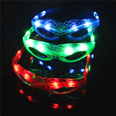 LED que brilla intensamente Gafas Flash Luminoso Blind Eyewear Party Light Boda Carnival Dance Bar Christmas Toy