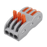 20Pcs 3Pin Wire Docking Connector Termainal Block Universal Quick Terminal Block SPL-3 Electric Cable Wire Connector Terminal 0.08-4.0mm²