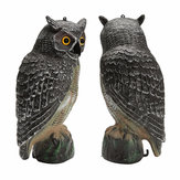 Outdoor Hunting Large Realistic Owl Decoy Straight Head Pest Control Crow Garden Yards Scarer Scarecrow Pest Decorations
