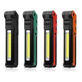 ESEN107 LED COB USB 18650 Литий-ионный Батарея Аккумуляторная складная для обслуживания Фонарик Работает фонарик Power Bank