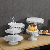 5PCS كعكة حامل مجموعة للزينة الزفاف الأبيض الجدول كيت تزيين حزب الموردين للحلوى فندان المعادن كب كيك حامل