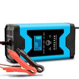 Enusic ™ 12 V 6A Darbe Onarımı LCD Batarya Şarj Cihazı Mavi İçin Araba Motosiklet Kurşun Asit Batarya Agm Jel Islak