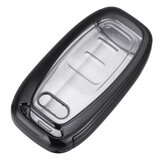 2-IN-1 TPU Auto afstandsbediening Smart Key Cover Fob met knopfilm voor Audi A3 A4 A5 A6 A7 A8 Q5 Q7 TT TT's TT RS