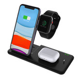 Bakeey 15W 4 in 1 Qi Wireless Charger Fast Charging Dock Stand with 27W Powers Adapter/USB Cable For Galaxy 10 for iPhone 11