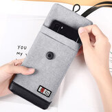 BUBM 4.7/6inch Phone Bag Velvet Soft Power Bank Storage Bag USB Cable Handbag Portable Travel