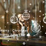 Miico ABQ6003 Kerststicker Creatief patroon Muurstickers Kamerdecoratie Verwijderbaar