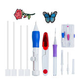 DIY Embroidery Pen Set Knitting Sewing Tools Kit Punch Needle Adjustable