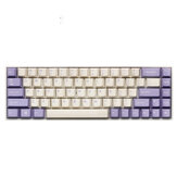 Godetevi 153 Key Milk Purple Cherry Profile ABS Keycaps Set di tasti per tastiera Meccanico