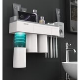 [Magnetic Design] Jordan&Judy Mutifunctional Magnetic Toothbrush Holder with Toothpaste Squeezer Cups Bathroom Storage Rack Nail Free Mount for Shaver Toothbrsuh Phone from Xiaomi Youpin
