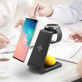 Bakeey QI 10W Fast شحن 3 In 1 Wireless شاحن شاحن حوض ل Samsung Wireless شحن Stand لـ Iphone ل Apple Watch لأجهزة Airpods Pro