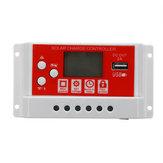 10A 12V / 24V Solar Panel Batería Regulador Controlador de carga 3 etapas PWM LCD