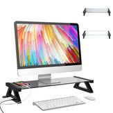 Suporte para monitor Riser Tablet Rack multifuncional USB 2.0 Suporte para computador de mesa Suporte para alto-falante