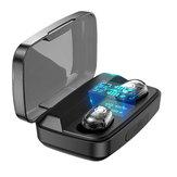 Bakeey M13C TWS bluetooth 5.0 koptelefoon LED-display aanraakbediening 1800 mAh Power Bank transparante hoofdtelefoon met microfoon