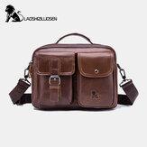 Men Genuine Leather Vintage Business Bag Crossbody Bag