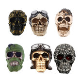 Halloween Skull Head Skeleton Ornament Devil Bones Statue Halloween Sculpture Desktop Decorations