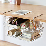 Multi-purpose Hanging Under Desk Shelf Bookshelf Storage Rack Cabinet Basket Household Home Office Kitchen Organizer