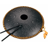 Hluru 14 дюймов 14-тональный ключ C Эфирный барабан Стальной языковой барабан Ручной ударный инструмент с барабанными молотками и Сумка