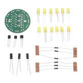 5 stks DIY Gele LED Ronde Flash Elektronische productiekit Component Solderen Trainingspraktijkbord