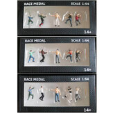 Medal wyścigowy w skali 1:64 Figurki Diorama Outdoor Fighting Baseball Bat Scena Model postaci