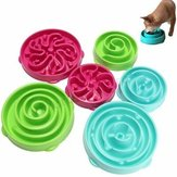 Pet Dog Cat Interactive Slow Food Bowl Healthy Anti Slip Gulp Feed Bloat