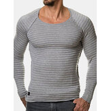 Striped Folds Slim Fit Casual T-Shirts