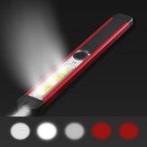 Skywolfeye Przenośna lampa LED + biała lampa COB + czerwona lampa COB 500 lumenów 5 trybów USB Akumulator Lampa robocza Zewnętrzna wielofunkcyjna wodoodporna lampa konserwacyjna Latarka z magnesami