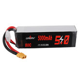 URUAV 11.1V 5000mAh 80C 3S Lipo Battery XT60 Plug for RC Quadcopter Car