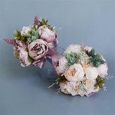 Mazzi nuziali di nozze Decorazioni fatte a mano dei fiori artificiali Accessori della sposa