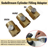 SodaStream Cylinder Refill محول + Bleed Valve + W21.8-14 / US CGA320 Connector