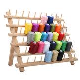 60 Spools Beechwood 60-Spool Sewing Embroidery Thread Shelf Rack Stand