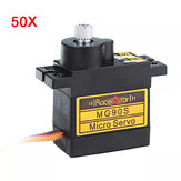 Wholesale 50PCS Racerstar MG90S 9g Micro Metal Gear 180° Analog Servo For 450 RC Helicopter RC Car Boat Robot