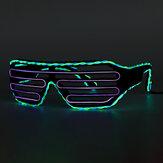 Çift Renkli EL Tel Soğuk LED Glow Gözlükler Gözlük Bar Parti Deklanşör Cadılar Bayramı