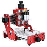 Rojo 1419 3 ejes Mini DIY Router CNC Husillo estándar motor Máquina de grabado de talla de madera Fresadora Grabadora Carpintería