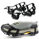 Antiscivolo 24 denti Crampon Ice Gripper per scarpe Donna Uomo Spike Manopole Tacchetti per ghiaccio Neve Arrampicata Escursionismo